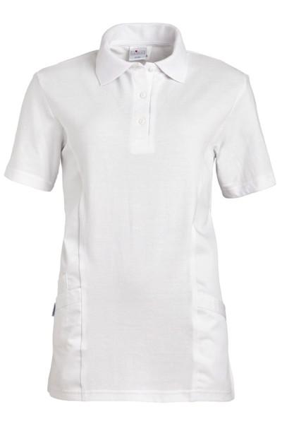 weißes Poloshirt - Kasack mit Taschen