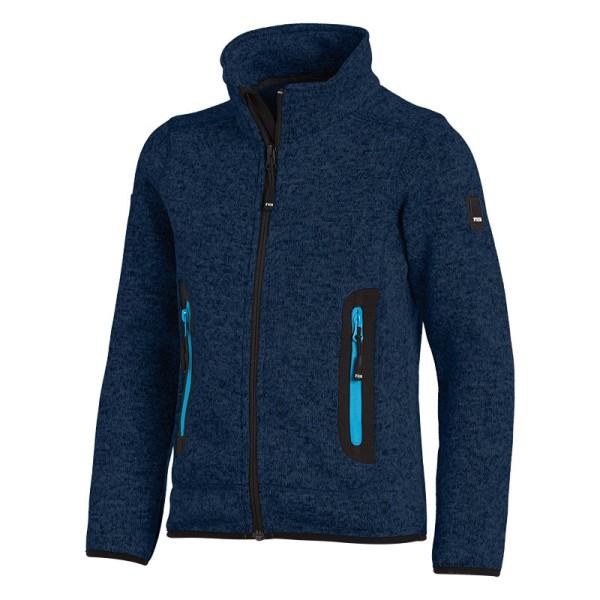 Kinder Strick-Fleece-Jacke Arbeitsjacke dunkelblau FHB MATS