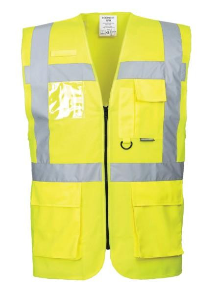 Warnweste gelb viele Taschen Übergröße 6XL 7XL 4XL