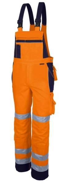 Qualitex Pro Warnschutz Latzhose Arbeitslatzhose orange