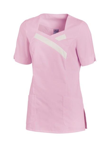 Damen Berufsmode Kittel hübsch - zartes rosa weiß