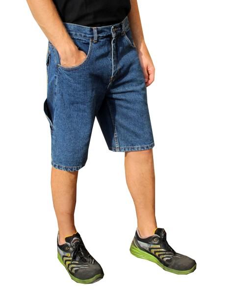 kurze Jeans Arbeitshose mit Zollstocktasche