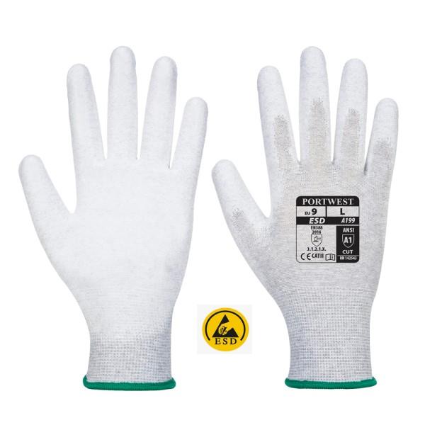 antistatischer ESD PU-Arbeitshandschuh A199 (12er Pack)