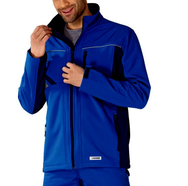 blaue Softshell Arbeitsjacke