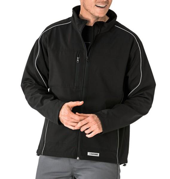 Übergöße Arbeitsjacke schwarz Softshelljacke