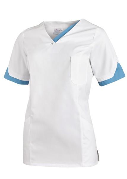 Praxiskittel blau türkis weiß - Schwesternkleidung