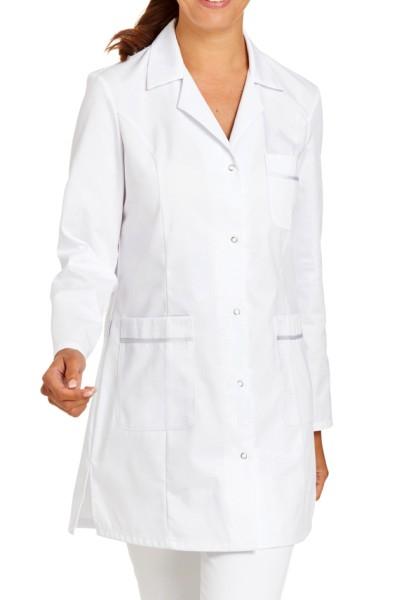 Damen langarm Kittel weiß Mantel für Arzt, Praxis, Krankenhaus