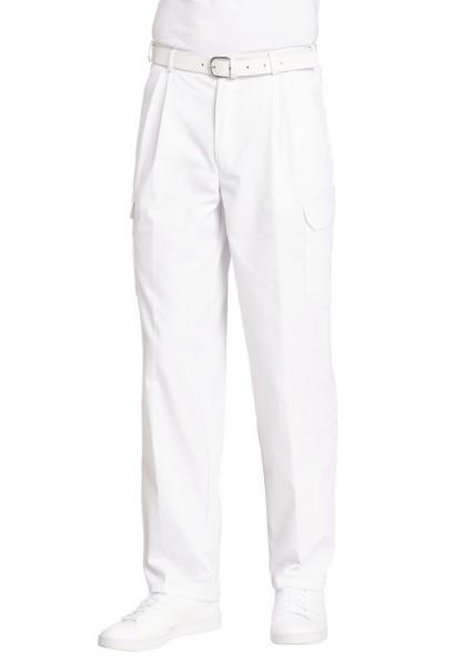 weiße Herrenhose mit Oberschenkeltasche Arzthose weiße Hose für Pfleger