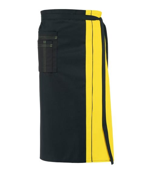 Vorbinder Schürze gelbschwarz 11/2569 Leiber 80 x 100 cm