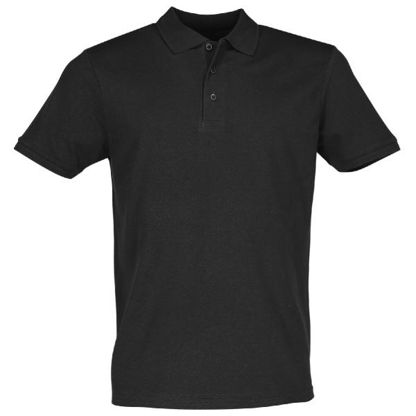Poloshirt Basic Herren schwarz Piqué 180 g leicht