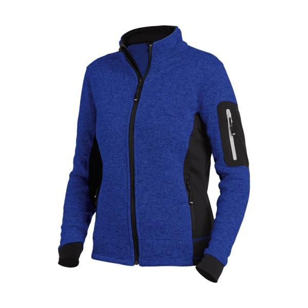 moderne Damen Arbeitsjacke Strick-Fleecejacke royal blau MARIEKE FHB