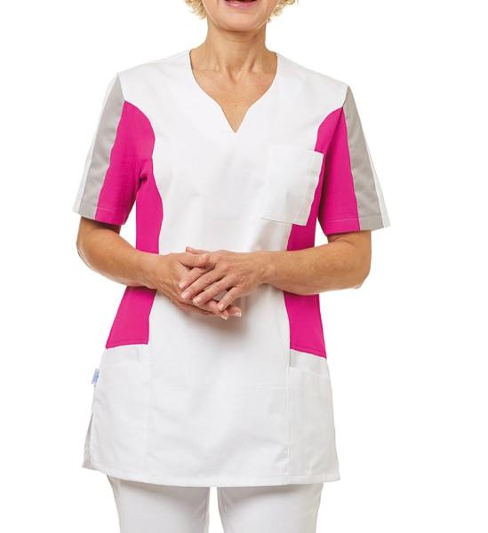 Damen Schlupfkittel Leiber Shirtkasack rosa