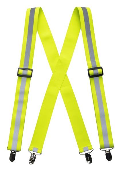 Warnschutz Hosenträger gelb floureszierend Signalfarbe Reflexband