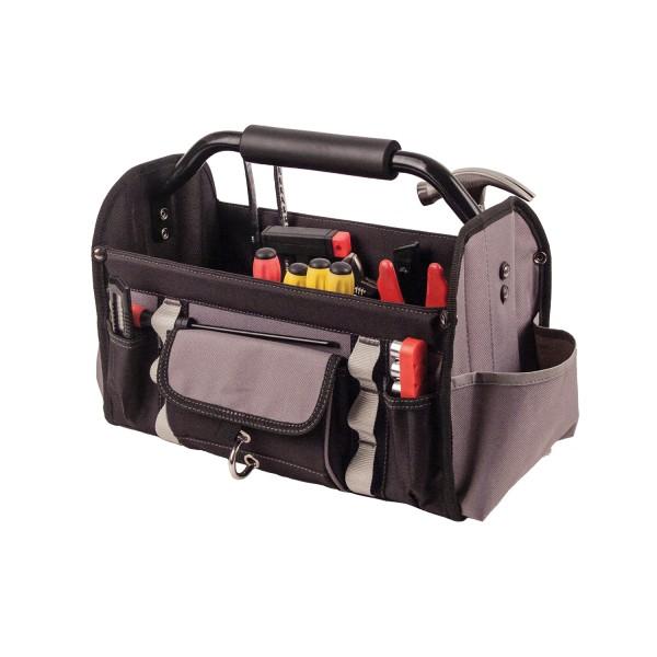 offene Werkzeugtasche Koffer mit vielen Fächern
