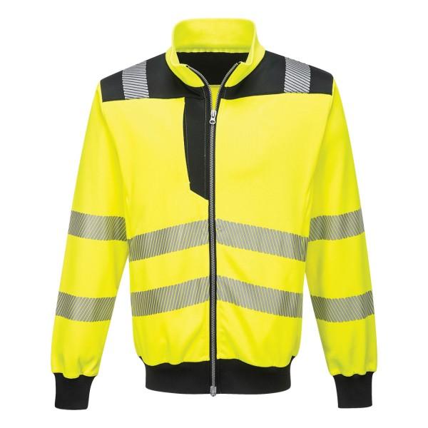 Warnschutz Sweatshirt gelb-schwarz