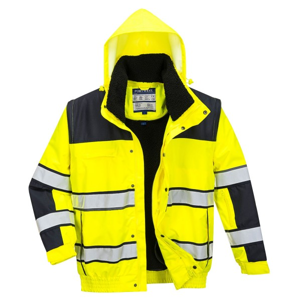 Warnschutzjacke Winter gelb schwarz