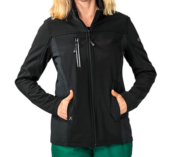 Damen Arbeitsjacke Stretch Pure schwarz Norit