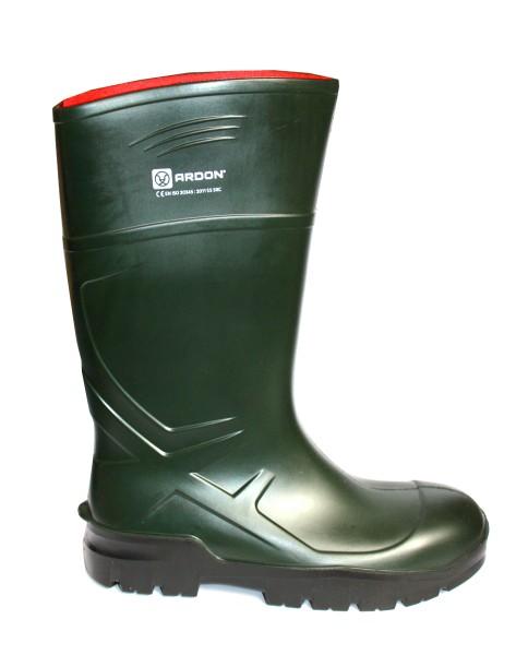PU Sicherheitsstiefel mit Kappe Gummistiefel grün S5