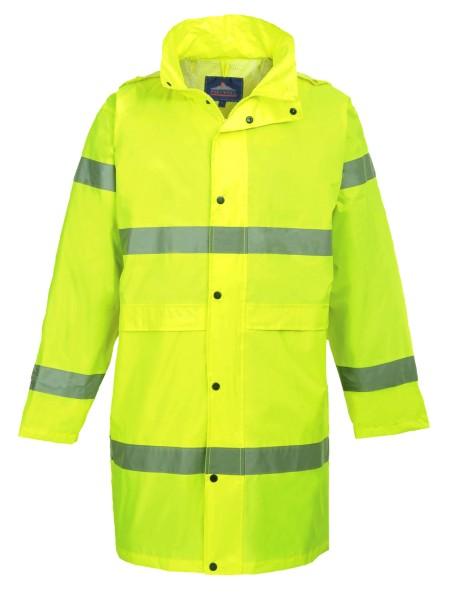 Regenjacke lang Regenjacke gelb Warnschutz EN ISO 20471