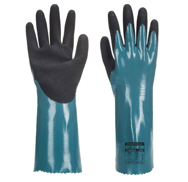 Chemikalienschutzhandschuhe mit Stulpe AP60