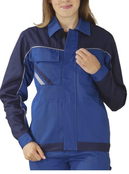 blaue Damen Arbeitsjacke